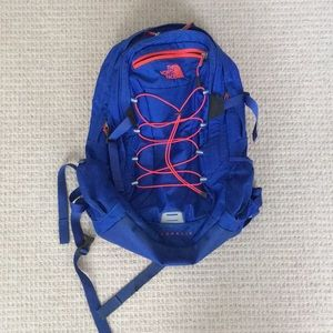 North Face Blue and Pink Backpack